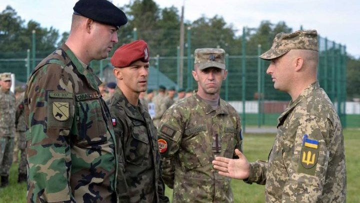 National Army Soldiers participate in the multinational Rapid Trident 2019 exercise