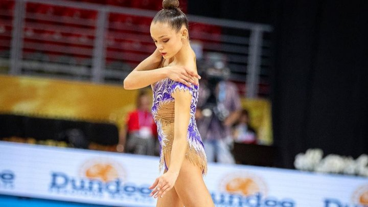 Anastasia Zacrevschi, the 17-year-old girl who ranks 40th in qualifying phase of the Rhythmic Gymnastics World Championships