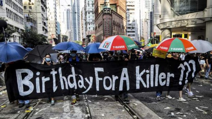 Hong Kong protest spiralled into the worst violence on China's 70th anniversary of communist rule