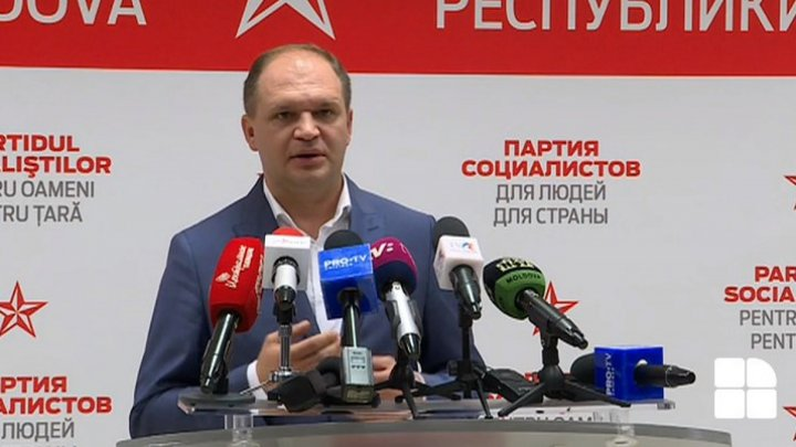 First declaration of Socialist candidate Ion Ceban prior to vote counting