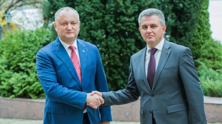 Transnistria President Krasnoselsky jumps down President Igor Dodon's throat: Keep promises and don't speculate
