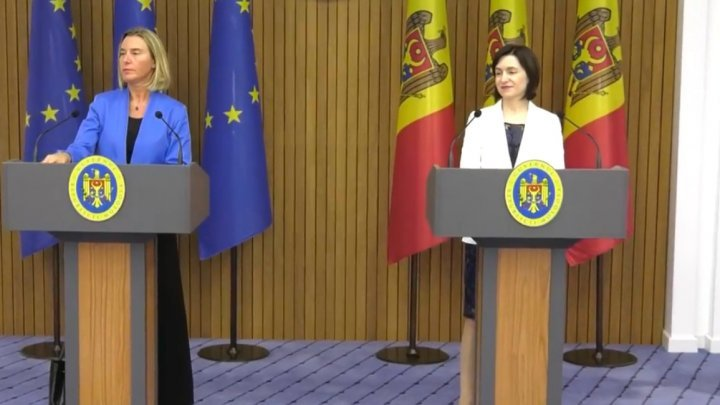 EU's Federica Mogherini reconfirmed EU's support for the integrity of Moldova