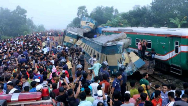 16 killed, 40 injured in head-on train collision in Bangladesh