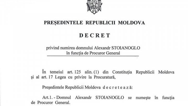 Alexandr Stoianoglo appointed as Moldovan Prosecutor General