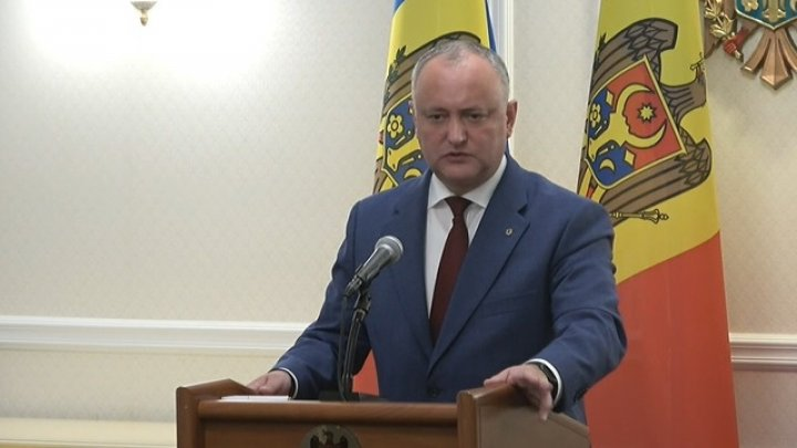 Igor Dodon to Klaus Iohannis's EU path statement: We hold Romania in high regard