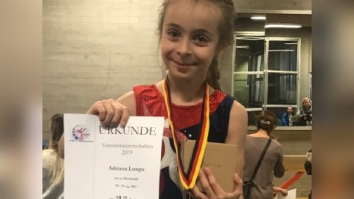 Moldovan seven-year-old girl won gold medal at a German gymnastics competition