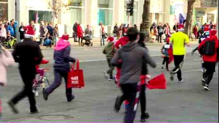 Christmas marathon: A half thousand amateur athletes run to make a cerebral palsy child happier