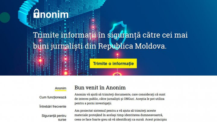 Moldovan people can now denounce cases of corruption, power abuse on ANONIM