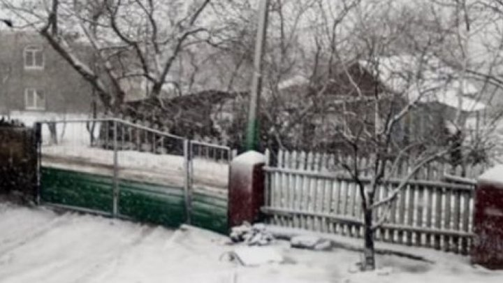 The long-awaited snowfall seen in the north of Moldova