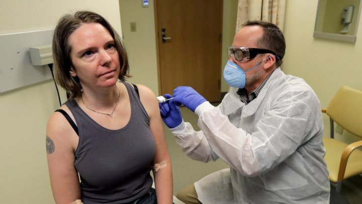 First person injected with trial coronavirus vaccine in the US