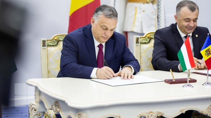 Hungarian PM on visit to Chisinau. Viktor Orban and Ion Chicu signed Joint Declaration for Strategic Partnership