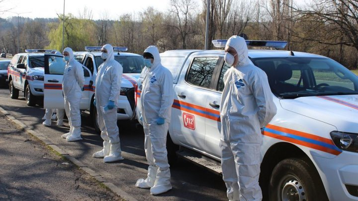 Firefighters and rescuers on duty in the fight with coronavirus