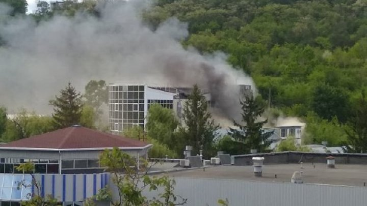 Blaze broke out near Sorting Center at Moldexpo (drone video/photo)