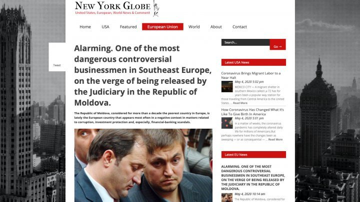 New York Globe: Platon scandal is a test for Moldova's judicial system