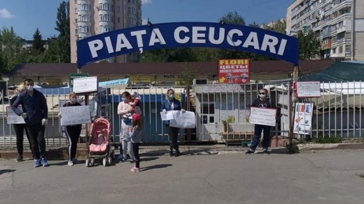 Another anti-lockdown protest took place at Poșta Veche market