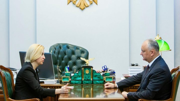 Meeting between Gagauzia Governor Irina Vlah and President Igor Dodon over COVID-19 pandemic