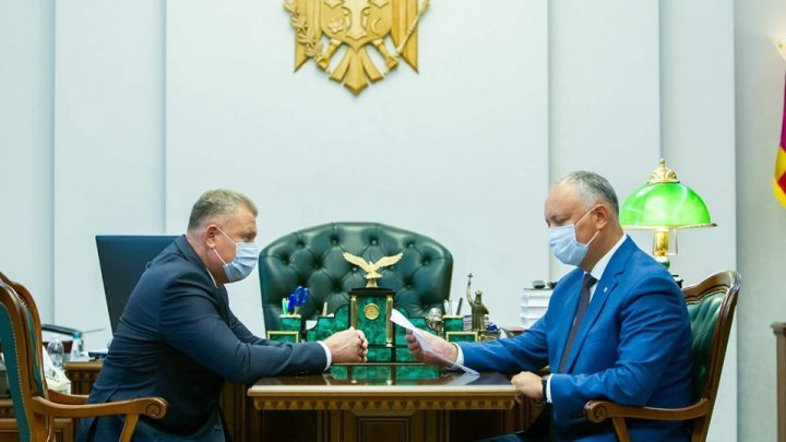 Igor Dodon had a meeting with president of Ungheni district Ghenadie Mitriuc