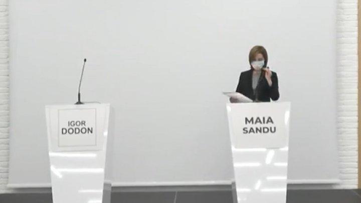 Igor Dodon did not come to presidential debates organized by Maia Sandu