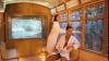 Vezi cum un tramvai din Milano a fost transformat în saună