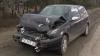 Trei maşini s-au tamponat din cauza unui panou publicitar din Capitală