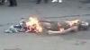Un tânăr de 23 de ani a fost bătut, ars şi aruncat de viu la gunoişte