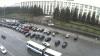 Şoferii din nou protestează în faţa Guvernului