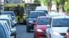 Din cauza lucrărilor de asfaltare, sute de maşini au rămas blocate în trafic