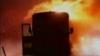 Un autobuz cu pasageri a luat foc în Capitală VIDEO