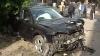 Accident grav în Capitală: Două maşini au fost avariate şi unul dintre şoferi transportat la Spitalul de Urgenţă VIDEO