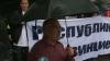 """Protest: """"Kirill, pleacă acasă!"""", au scandat câţiva tineri"""