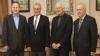 Petru Lucinschi a fost felicitat de Ion Ciubuc şi Dumitru Braghiş VEZI ce i-au dăruit VIDEO