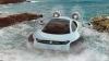 Maşina cu pernă de aer, care se deplasează pe uscat, nisip, gheaţă şi apă (VIDEO)