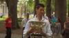 Novac Djokovic şi-a prezentat trofeul