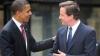Barack Obama şi David Cameron au asistat la un meci de baschet