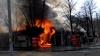 Magazin din Cahul, cuprins în întregime de flăcări VIDEO