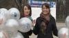 Prezentatoarele Publika TV Nataşa Medvedev şi Lili Lozan au îndemnat trecătorii să zâmbească