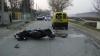 Accident mortal: Un tânăr a decedat după ce a intrat cu scuterul într-un automobil