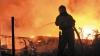 Incendiu la un depozit pentru păstrarea lemnului VIDEO