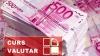 Moneda naţională s-a apreciat în raport cu moneda unică europeană