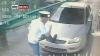 Poliţist luat pe capotă de un şofer nervos VIDEO