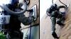Adevăratul om-păianjen este un soldat american care foloseşte un aspirator VIDEO