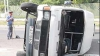 Un microbuz s-a răsturnat în Transnistria: Patru oameni au avut nevoie de ajutorul medicilor FOTO