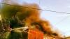 Incendiu puternic la o hală de textile de lângă Bucureşti