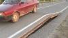 Canicula strică drumurile: Pe traseul Chişinău-Bălţi asfaltul s-a ridicat cu jumătate de metru