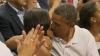 Obama şi-a sărutat soţia în văzul tuturor (VIDEO)