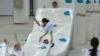 Record mondial pentru cel mai mare domino cu saltele