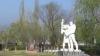 Monument în memoria ostaşilor căzuţi în războiul din Afganistan, la Sîngerei
