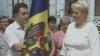 """Tricolorul Moldovei arborat pe Conacul Boieresc din Cernoleuca, raionul Donduşeni. """"Aici este inima satului nostru"""""""