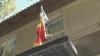 Drapelul Moldovei, arborat la grădiniţa din satul Brătuşeni, raionul Edineţ VIDEO