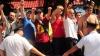 12 poliţişti, agresaţi în timpul manifestărilor din Bălţi